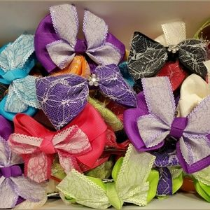 89 Pc Lot Assorted Handmade Embellished Hair Clips